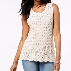 Style & Co Petite Crochet Top